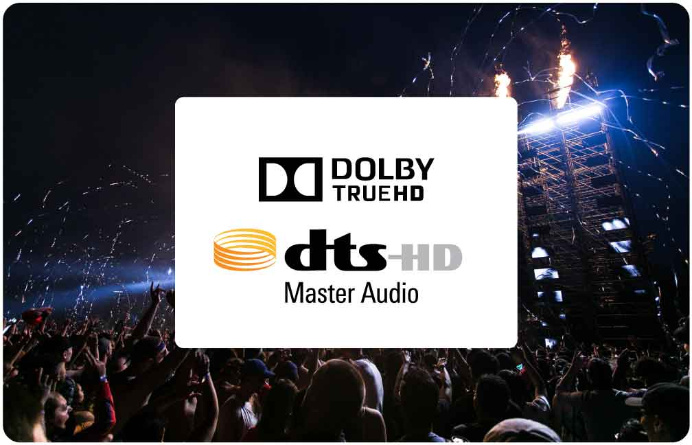 DTS HD Master Dolby TrueHD Audio