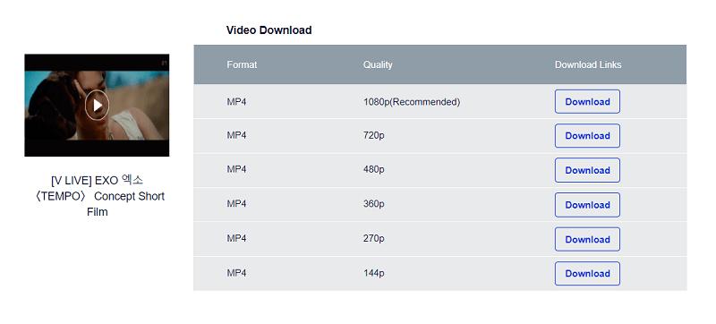 V LIVE Downloader: Free Download V LIVE Videos Online to