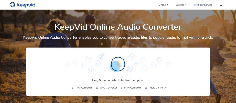 KeepVid Online Audio Converter