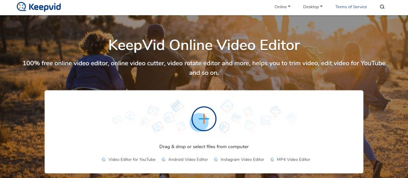 KeepVid Online Video Editor