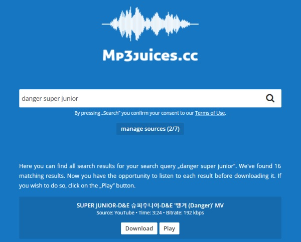 MP3Juices Search Function