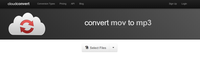 Cloudconvert MOV to MP3