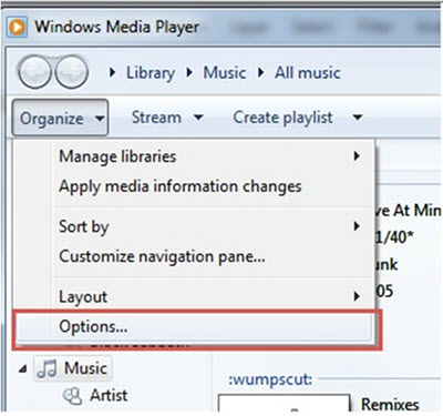 Convert WMA to MP3 in Windows Media Player