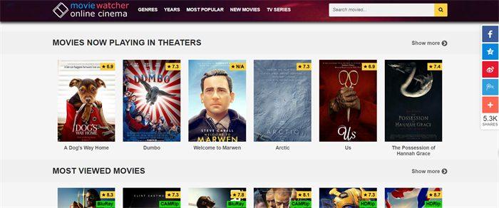 top 10 online movie sites