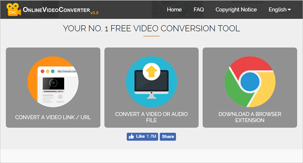 Online Video Converter Mainpage