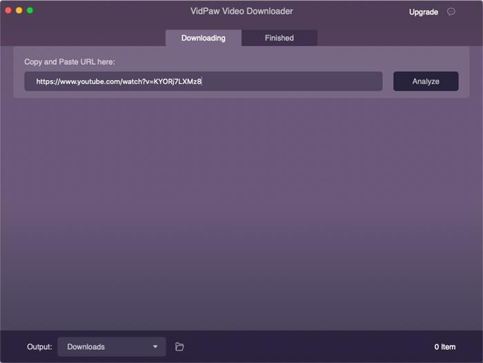 Paste URL to VidPaw for Mac