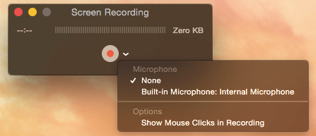 Record Movie with Sound Mac