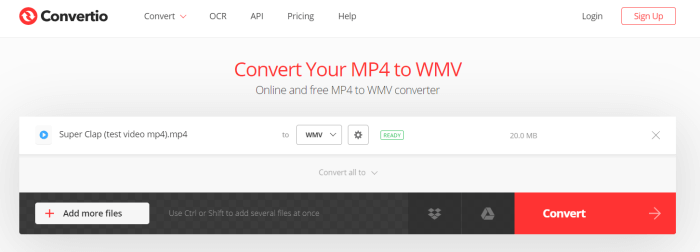 Select Format as MP4