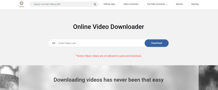 VidPaw Online Video Downloader