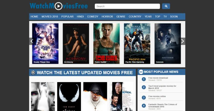 best free hd movies website